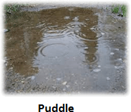 The image of puddle