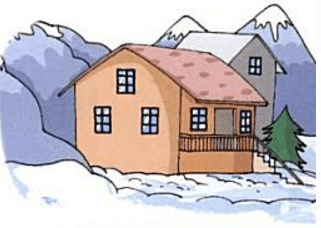Which house is built on hills – Choice A