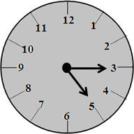 The clock with 5:15 time – choice D