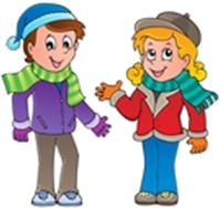 The given figure is wear woolen clothes of boy and girl