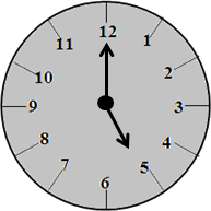 The clock with 5:00 time – choice A