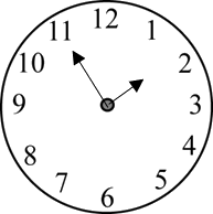 Image of the clock shows the time – Choice A