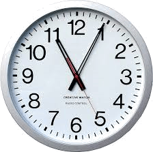 Image of time in the wall clock