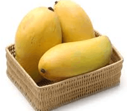 Image of 3 mangos in the basket