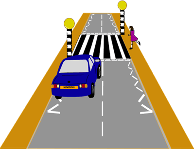 This image shows the road crossing