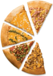 The picture represents pizza slices – choice C