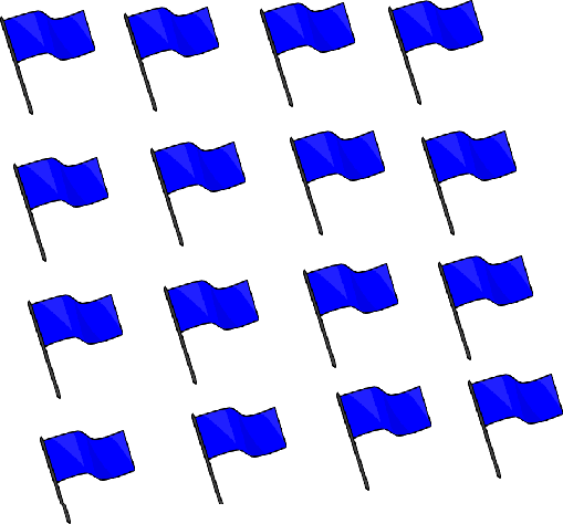 Multiple flags are given in this image.