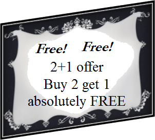This is offer of buy 2 get 1 free