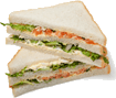The picture represents sandwich slices – choice D