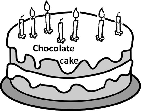 The image represents chocolate cake