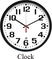 Image shows the object is used to measure time or not –Choice A
