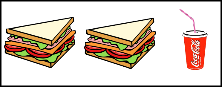 Two sandwich and coke are given in this image.
