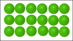 Images are arrangement of balls in patterns – Choice A