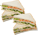 The picture represents sandwich slices – choice A