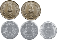 This image represents different types of coins – choice B