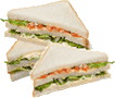The picture represents sandwich slices – choice C