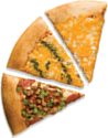 The picture represents pizza slices – choice A