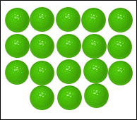 Images are arrangement of balls in patterns – Choice B