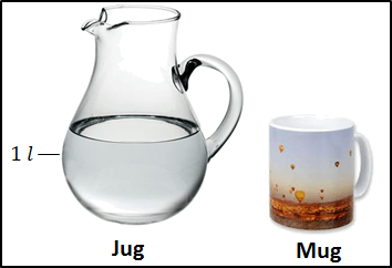 This figure is 1 litre water jug and mug
