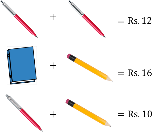 Image shows the amount of pen, pencil and book