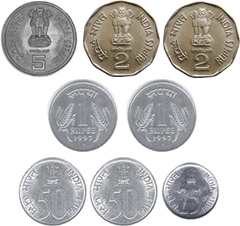 Find how many ways obtained from these coins