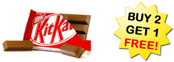 Image shows kitkat in free offer