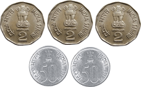 This image represents different types of coins – choice C