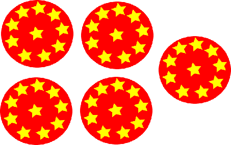 Each circle contains 10 stars – Find total stars