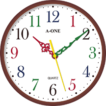 This image shows the wall clock
