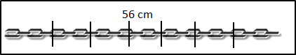 The image of chain is 56 cm long