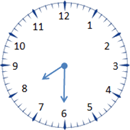 this image of clock shows the time – choice A