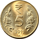 Image of Rs. 5 coin