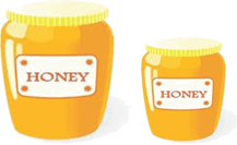 Two bottles of Honey – Find expression