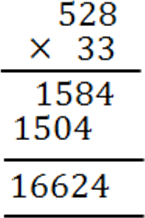 This image shows the multiplication of two digits