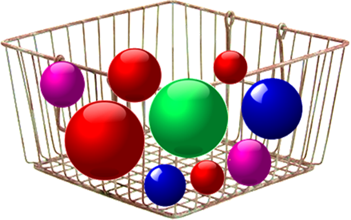 This image shows the balls on the basket