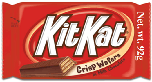 This image shows a part of kitkat wrapper