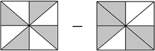 This figure shows the two squares with unshaded parts