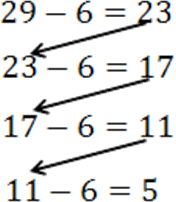 This image shows subtracting 6 from 26 stepwise