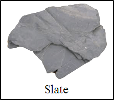 Shows the rocks which consists of thin platy or not – Choice A
