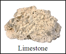This image shows the different type of rock with name –Choice A