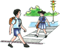 Image shows the children in the road – Choice B