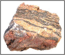 This image shows the different kind of rock – Choice C