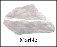 Figure of rock contains the sample of different rock – Choice D