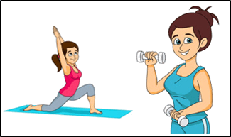 This image shows the women doing exercise