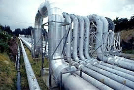 Figure showing U-shaped steam pipes