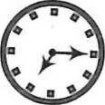 Choice 1 for correct mirror image – clock