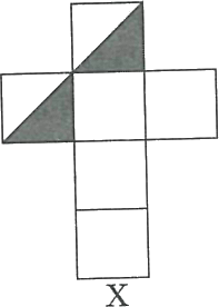 Opened image of a box having two shaded face