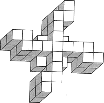 A figure showing so many cubes – Cross shape