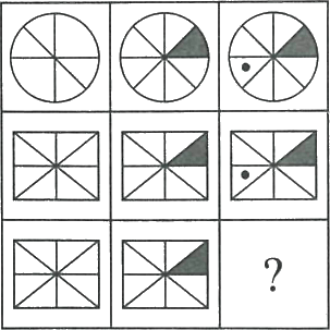 3×3 matrix having circles and rectangles