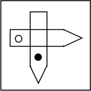 Square with some shapes are given Choice C